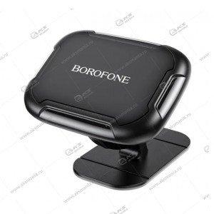 Автодержатель Borofone BH36 Voyage center console magnetic для телефона/торпеда/магнитный черный