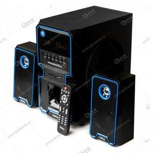 Колонка DIALOG AP-222B BT FM USB+SD 30W,пульт ДУ,черный