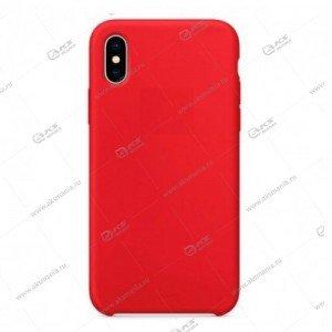 Silicone Case (Soft Touch) для iPhone XR красный