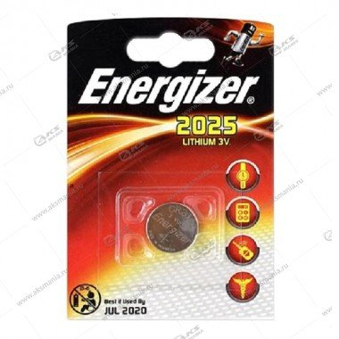 Элемент питания Energizer CR2025/1BL