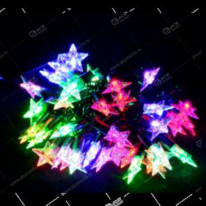 """Гирлянда """"Звезды"""" силиконовый провод 40LED разноцвет."""