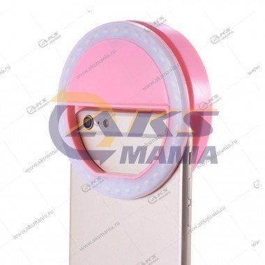 Вспышка-селфи для телефона RK-12 розовый