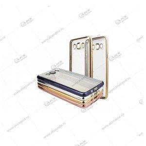 Силикон Asus Zenfone Go ZB500KL прозрачный кант золото