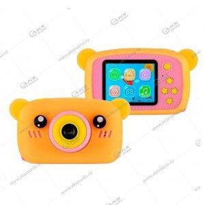 Детский фотоаппарат Zoo Kids Camera мишка оранжевый
