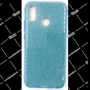 Силикон блестки Samsung A01 Core 3в1 голубой