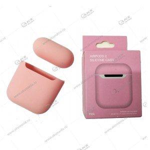 Силиконовый чехол для Airpods 2 Pink