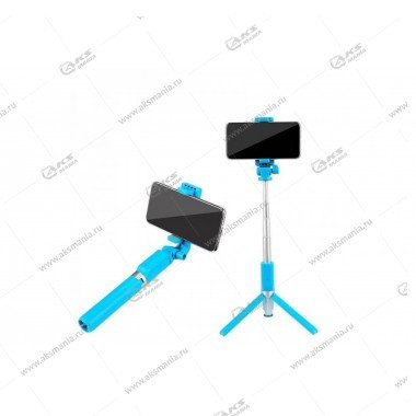 Селфи-палка, Штатив Bluetooth R2 голубой
