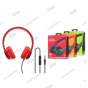 Наушники Borofone BO5 Star sound накладные с микрофоном красные