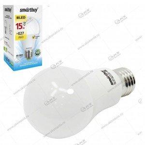 Лампа светодиодная Smartbuy A60-15W-220V-3000К-E27 (теплый свет)