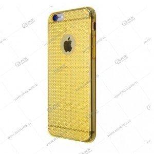 Силикон 3D iPhone 5 кант золотой