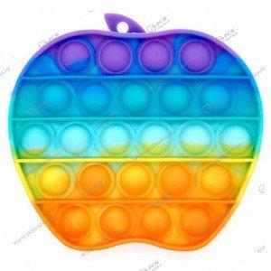 Игрушка Антистресс Pop it резиновые пузырьки (яблоко)
