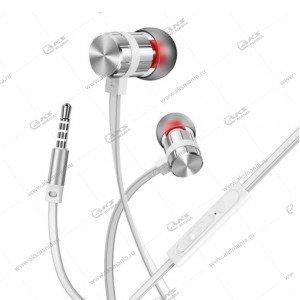 Наушники Borofone BM48 Acoustic speaker с микрофоном серебро