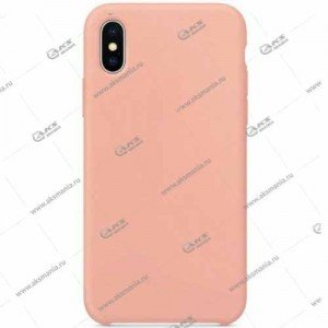 Silicone Case (Soft Touch) для iPhone XR нежно-розовый