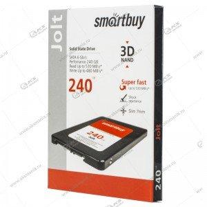Внутренний накопитель SSD SmartBuy 240GB Jolt, SATA-III, R/W - 500/460 MB/s Silicon Motion SM2258XT