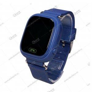 Часы детские Q90 GPS, Будильник, Шагомер. Сенсорный синий