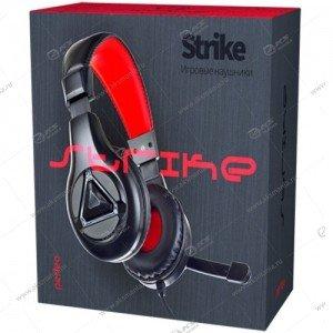 Наушники Perfeo Strike PF_A4427 , кабель 2,2м, черная