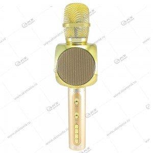 Беспроводной караоке микрофон YS-60 золотой