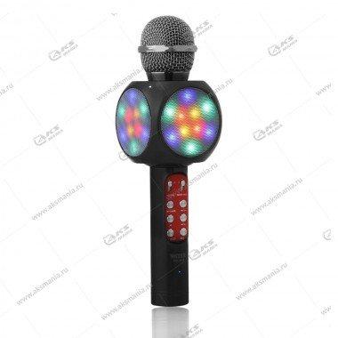 Беспроводной караоке микрофон WS-1816 черный
