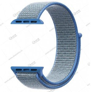 Ремешок нейлоновый для Apple Watch 38mm/ 40mm голубой