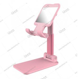 Держатель-подставка для телефонов P-27 розовый