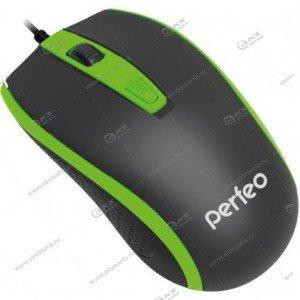 Мышь проводная Perfeo PROFIL 4 кн, USB (PF-383-OP) черно-зеленый