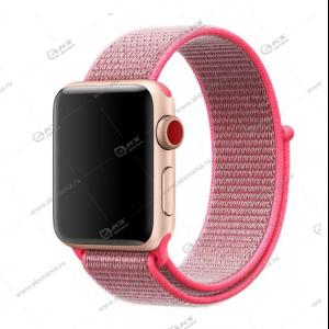 Ремешок нейлоновый для Apple Watch 38mm/ 40mm розовый