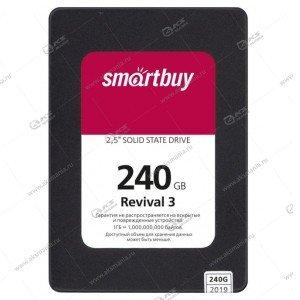 Внутренний накопитель SSD SmartBuy 240GB Revival 3, SATA-III, R/W - 550/470 MB/s Phison PS3111-S11
