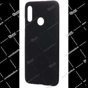 Силикон Huawei Honor 10 Lite 2019/P Smart 2019 матовый черный с глянцевым ободом