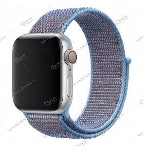 Ремешок нейлоновый для Apple Watch 38mm/ 40mm лазурный