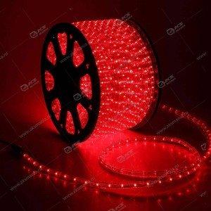 Дюралайт LED прямоугольного сечения 2-х проводной, бухта 100м красный (цена за 1м)