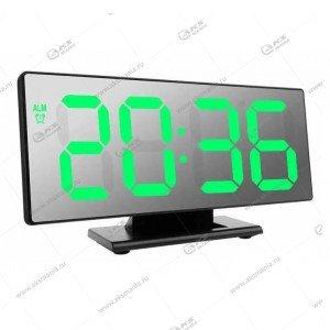 Часы настольные DS-3618L черно/зеленый
