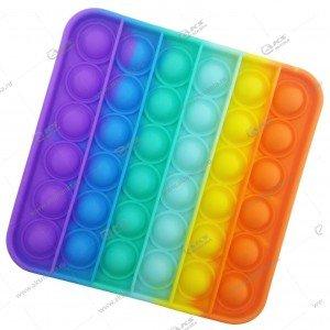 Игрушка Антистресс Pop it резиновые пузырьки (квадрат)