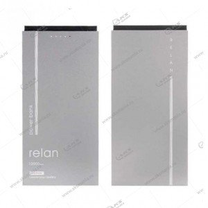 Power Bank Remax Relan RPP-65 10000mAh серый