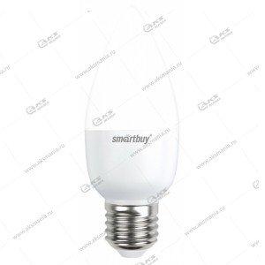 Лампа светодиодная Smartbuy C37-7W-220V-4000K-E27 (свеча, белый свет)