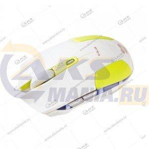 Мышь проводная E-BLUE Cobra EMS128GR игровая, 6 кнопок + ролик прокрутки, USB, зеленая