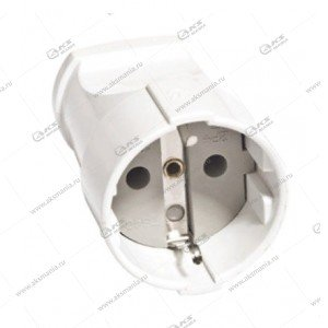 Штепсельное гнездо Smartbuy, с заземлением, белое 16A, 250В (SBE-16-S01-wz)