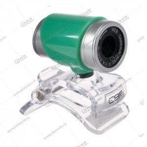 Веб-камера CBR CW 830M 0,3Мп микрофон зеленый