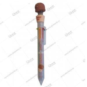 Ручка шариковая многоцветная, 6 цветов ассорти