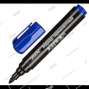 Маркер перманентный Attache 1,5-3мм, скошенный наконечник, синий