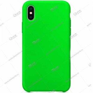 Silicone Case (Soft Touch) для iPhone X ярко-зеленый
