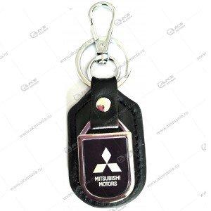 "Брелок для ключей металлический+кожа ""Mitsubishi"""