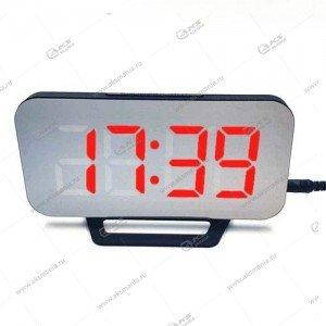 Часы настольные DS-3625L черно/красный