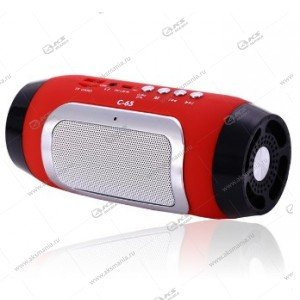 Колонка портативная BT Speaker C-65 BT FM TF  красный