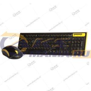 Клавиатура беспроводной набор Smartbuy SBC-23350AG-KY черно-желтый