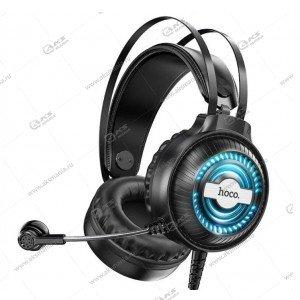 Наушники Hoco W101 Streamer gaming с микрофоном черный