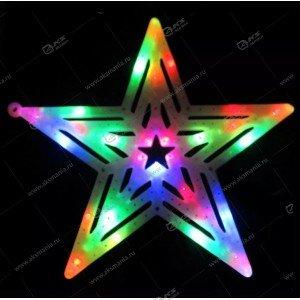 """3D-фигура на стену """"Звезда"""" большая разноцвет."""