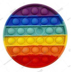 Игрушка Антистресс Pop it резиновые пузырьки (круг)