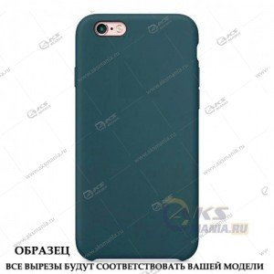 Silicone Case (Soft Touch) для iPhone 5/5S/5SE сине-зеленый
