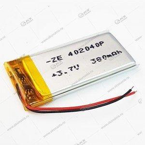 Аккумулятор универсальный 402040 380mAh литий-ионный