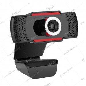 Веб-камера CM-001-480p с микрофоном, черно-красная